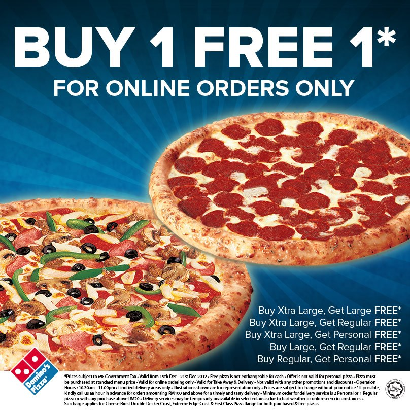 dominos buy 1 get 1 free