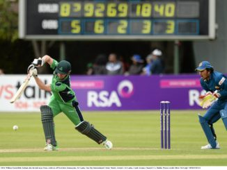 William Porterfield in action for Ireland recently against Sri Lanka.