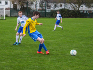 Seán Pender in action against Athlone IT in the CUFL Premier Division North. Credit: David Clarke.