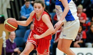Anna Brennan of DCU Mercy dribbles vs Glanmire. Credit: Sportsfile.