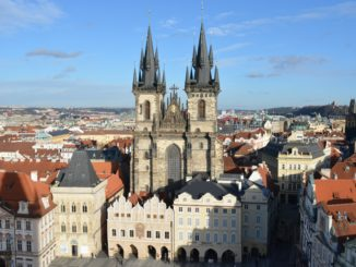 Cathedral in Prague's Old Town Square CREDIT Hayley Halpin