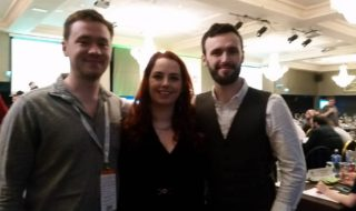 Newly elected sabbaticals, Cian Power, Annie Hoey and Dan Waugh. (Credit: Catherine Devine)