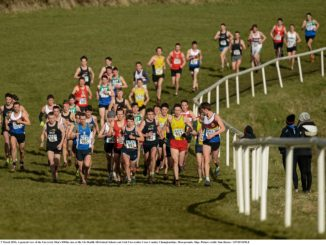 5 March 2016; A general view of the University Men's 8000m race at the GloHealth All-Ireland Schools and Irish Universities Cross Country Championships. Showgrounds, Sligo. Picture credit: Sam Barnes / SPORTSFILE