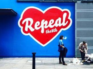 The Repeal the eight mural that was in Dublin's Temple Bar