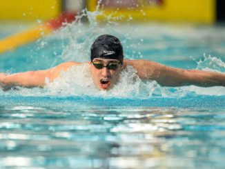1 May 2015; Alex Lebed, NCSA, on his way to winning the A final of the men's 400m individual medley event, during the 2015 Irish Open Swimming Championships at the National Aquatic Centre, Abbotstown, Dublin. Picture credit: Paul Mohan / SPORTSFILE