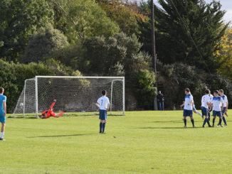 Darragh Gannon's free kick leaves Patrick Dunican stranded. Credit: Darragh Culhane