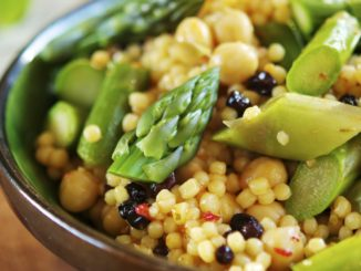 Asparagus Couscous with Chickpeas and Almonds
