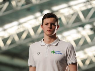 12 May 2016; Ireland swimmer Brendan Hyland prior to departure for the European Swimming Championships in London, United Kingdom, from the16th of May to the 22nd of May 2016. National Aquatic Centre, Abbotstown, Dublin. Picture credit: Seb Daly / SPORTSFILE