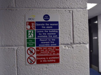 With the regular use of fire drills to practice the emergency routine of dealing with a fire, Laura Horan argues that this is making students less reactive to actual fires. Image Credit: Darragh Culhane
