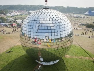 The world's largest mirrorball, which will be at the RDS this weekend