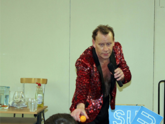 Sex magician performs on St. Patrick's College campus during DCUSU Refreshers Week. Credit: DCUSU