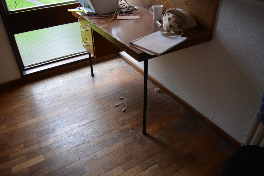 These are the desks in each bedroom of the accommodation.