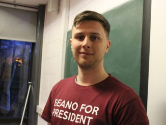Presidential candidate Niall Behan. Credit: Rebecca Lumley