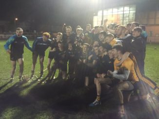 DCU's fresher hurlers after their John Corcoran Cup victory. Credit: DCU Dóchas Éireann