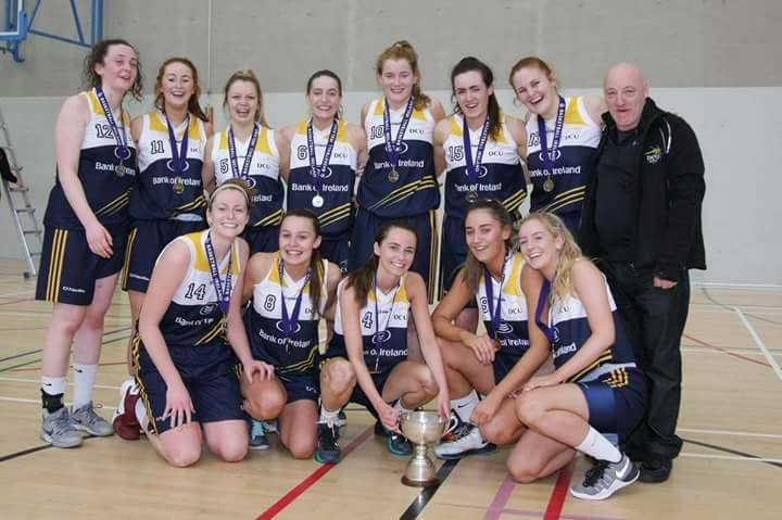 The victorious DCU Women's Basketball side.  Credit: Basketball Ireland Colleges.