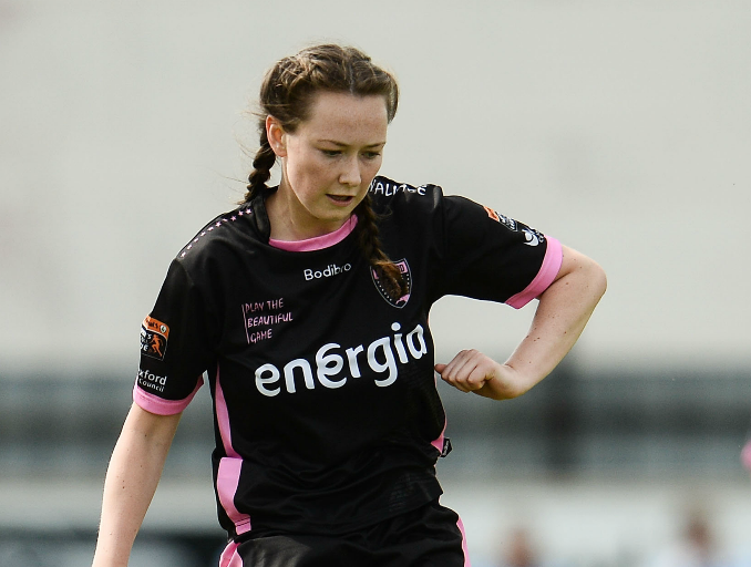 28 August 2016; Aoibhin Webb of Wexford Youths WFC during the UEFA Women's Champions League Qualifying Group game between ARF Criuleni and Wexford Youths WFC at Ferrycarrig Park in Wexford. Photo by Sam Barnes/Sportsfile