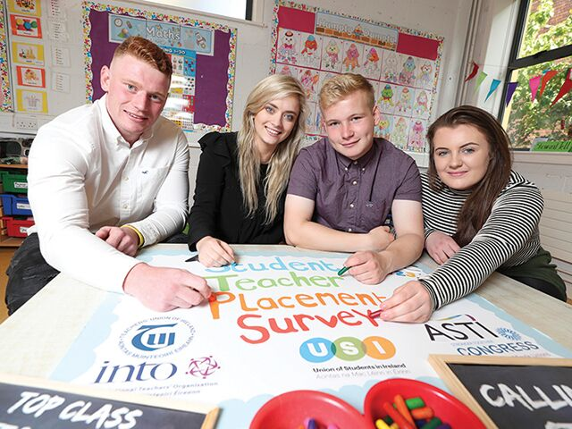 The USI launched a campaign with trade unions TUI, ASTI, INTO and ICTU for better working conditions for student teachers while on placement.