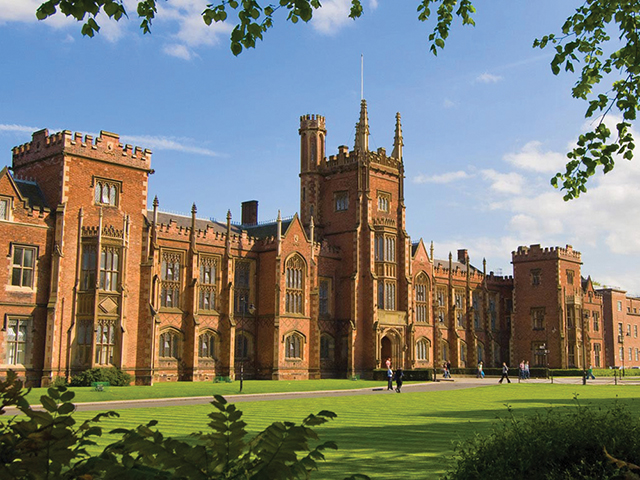 Queen's in Belfast, a member of the Russell Group of leading research-driven universities