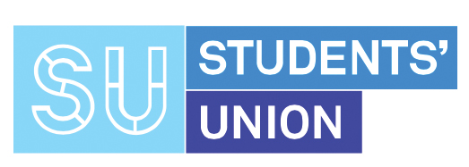 DCUSU logo, which is three shades of blue.